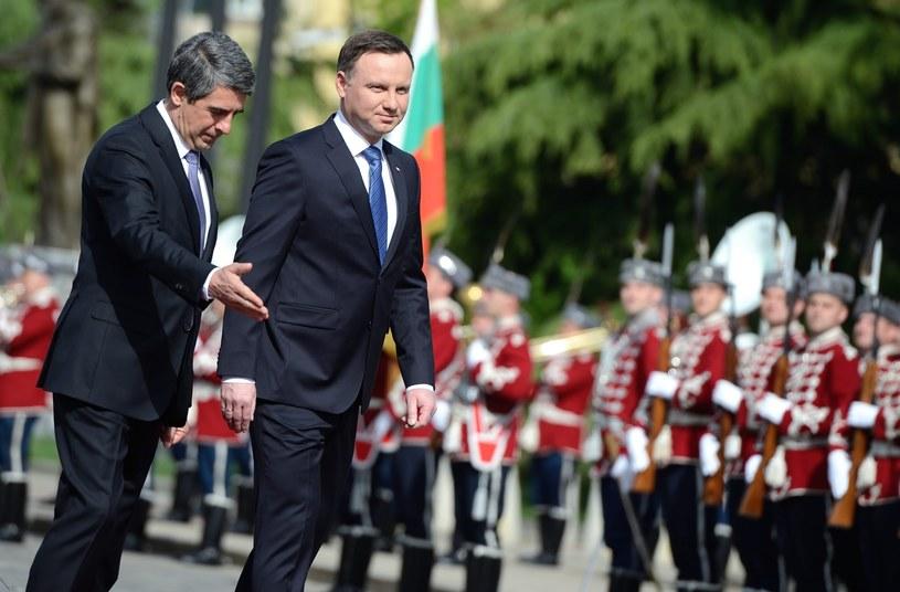 """Andrzej Duda powiedział, że w kwestiach bezpieczeństwa Polska i Bułgaria mają """"wspólne cele i wspólny punkt widzenia"""" /EPA/VASSIL DONEV /PAP/EPA"""