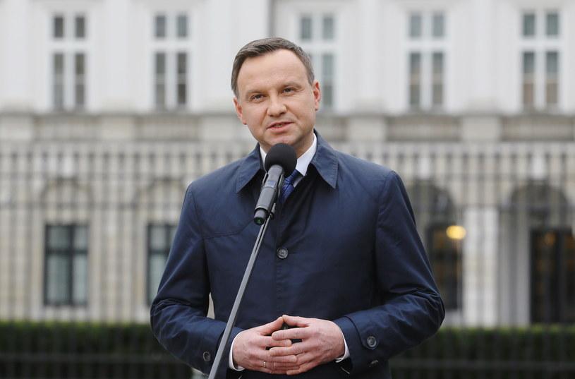 Andrzej Duda przed Pałacem Prezydenckim /Paweł Supernak /PAP