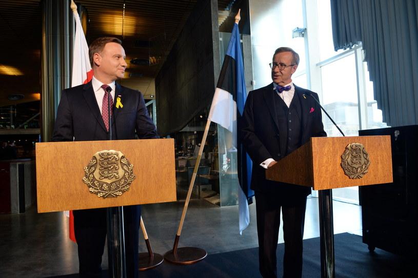 Andrzej Duda spotkał się w Tallinie z prezydentem Estonii /Jacek Turczyk /PAP