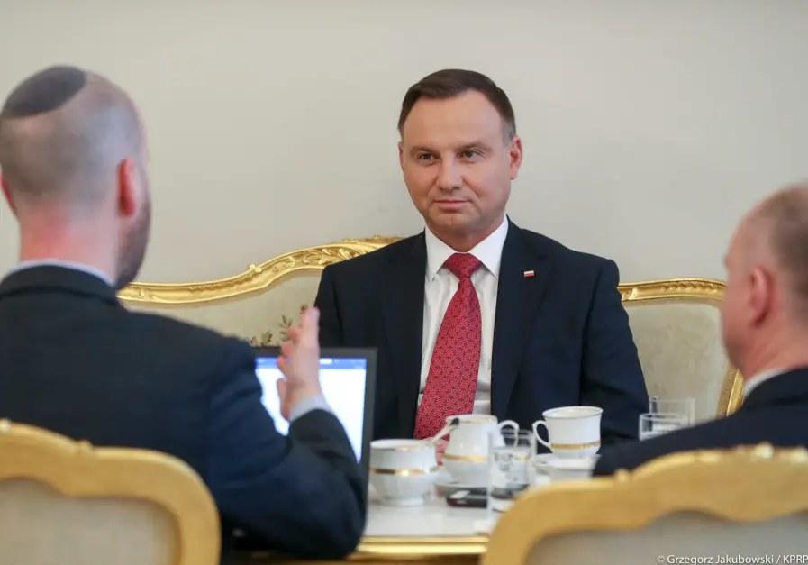 """Andrzej Duda udzielił wywiadu dla dziennika """"Jerusalem Post"""" /KPRM /"""