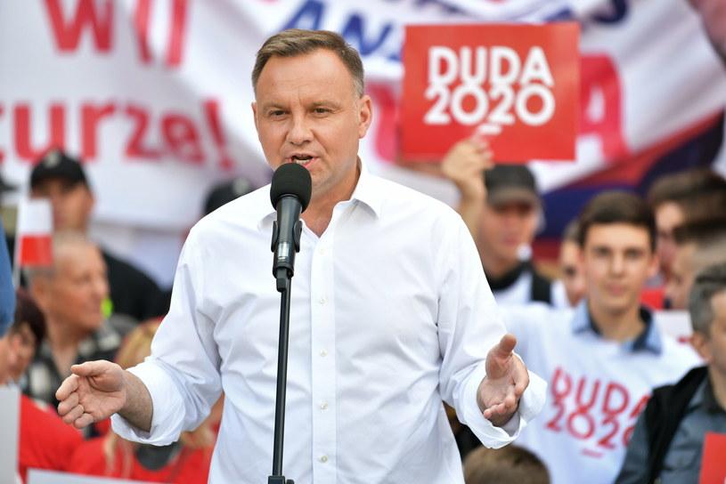 Andrzej Duda w Bolesławcu / Maciej Kulczyński    /PAP
