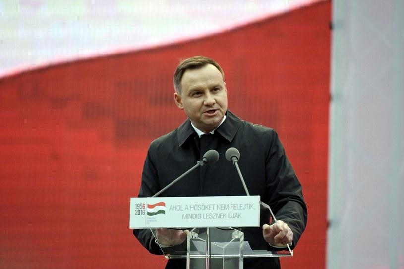 Andrzej Duda w Budapeszcie /PAP/EPA