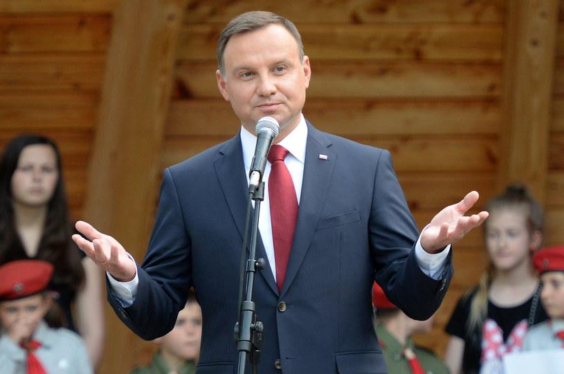 Andrzej Duda w Busku-Zdroju /Piotr Polak /PAP