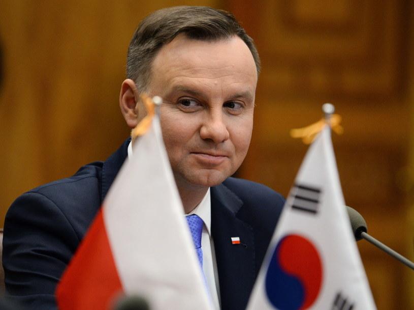 Andrzej Duda w czasie wizyty w Korei Południowej /Jacek Turczyk /PAP