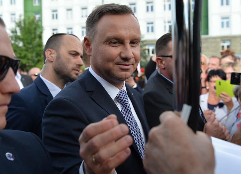 Andrzej Duda w Gliwicach /Łukasz Kalinowski /East News