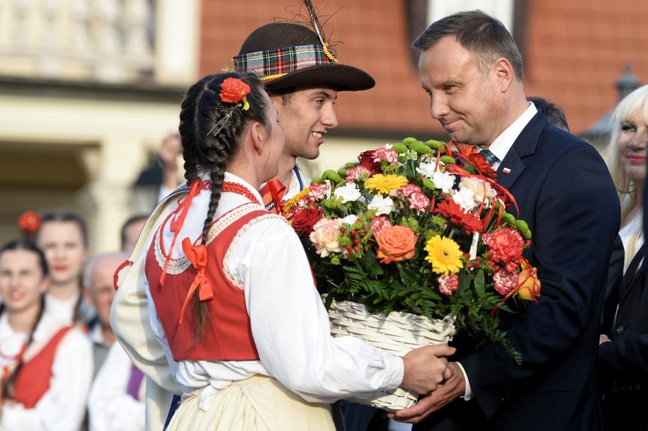 Andrzej Duda w Leżajsku /Darek Delmanowicz /PAP