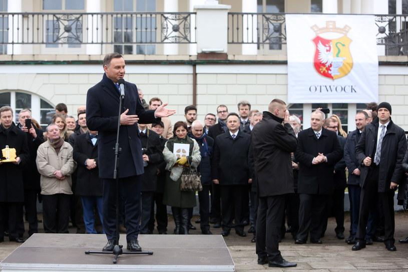 Andrzej Duda w Otwocku /Leszek Szymański /PAP
