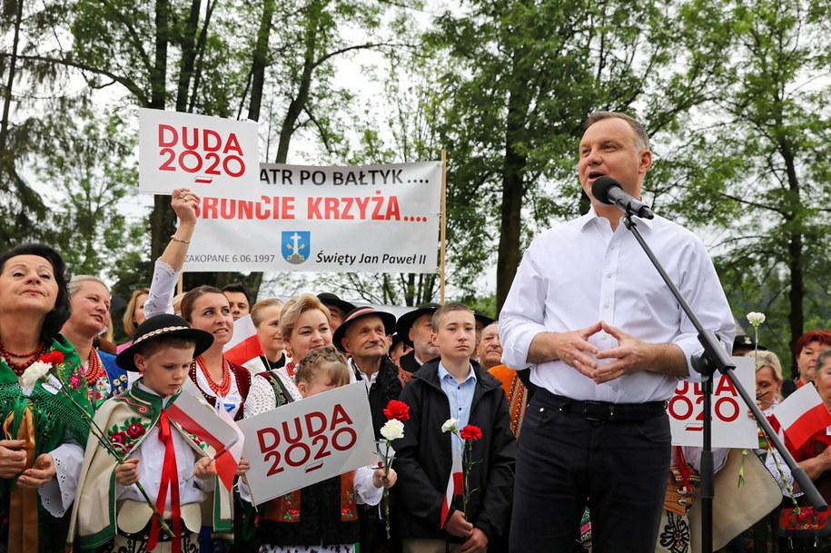 Andrzej Duda w Poroninie w Małopolsce / Grzegorz Momot    /PAP