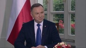 """Andrzej Duda w programie """"Gość Wydarzeń"""" w Polsacie"""