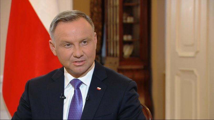 """Andrzej Duda w programie """"Gość Wydarzeń"""" w Polsat News /Polsat News /Polsat News"""