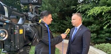 Andrzej Duda w RMF FM: Mamy bardzo dobrą atmosferę współpracy z administracją amerykańską