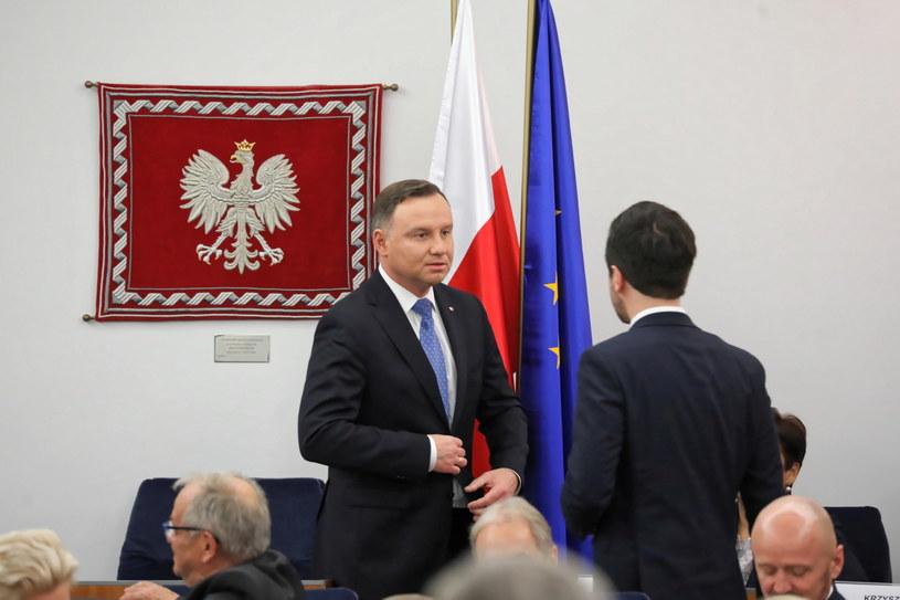 Andrzej Duda w Senacie / Tomasz Gzell    /PAP