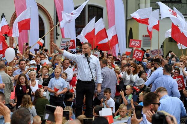 Andrzej Duda w Stargardzie /Marcin Bielecki   /PAP