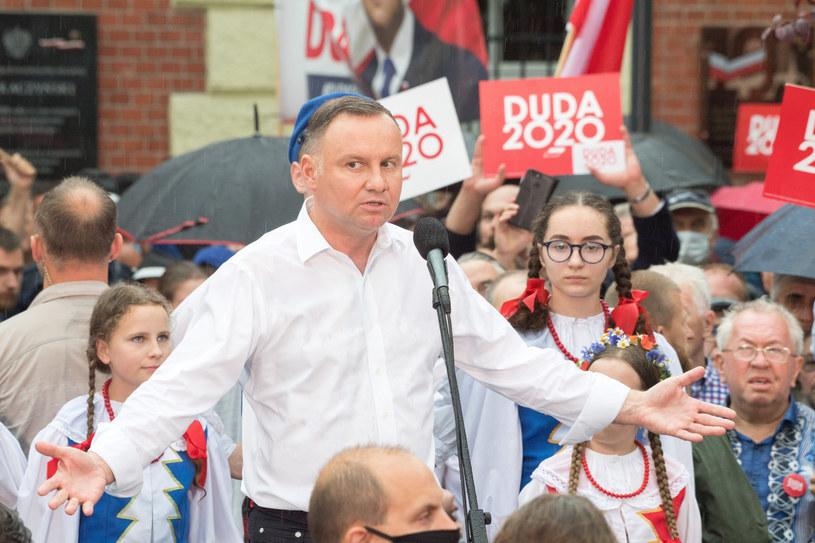 Andrzej Duda w Starogardzie Gdańskim /Wojciech Stróżyk /Reporter