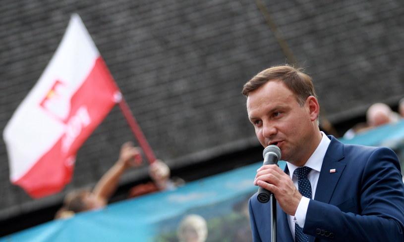 Andrzej Duda w Suchej Beskidzkiej /Grzegorz Momot /PAP