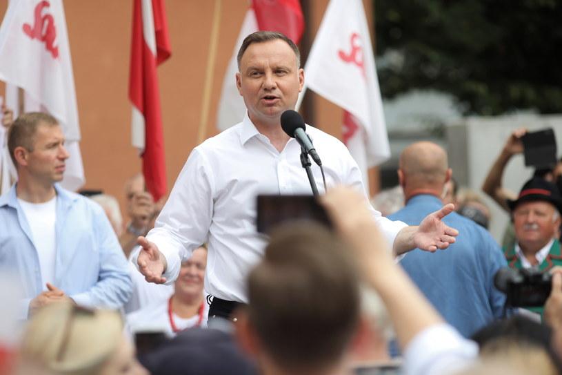 Andrzej Duda w Toruniu /Szymon Łabiński /PAP