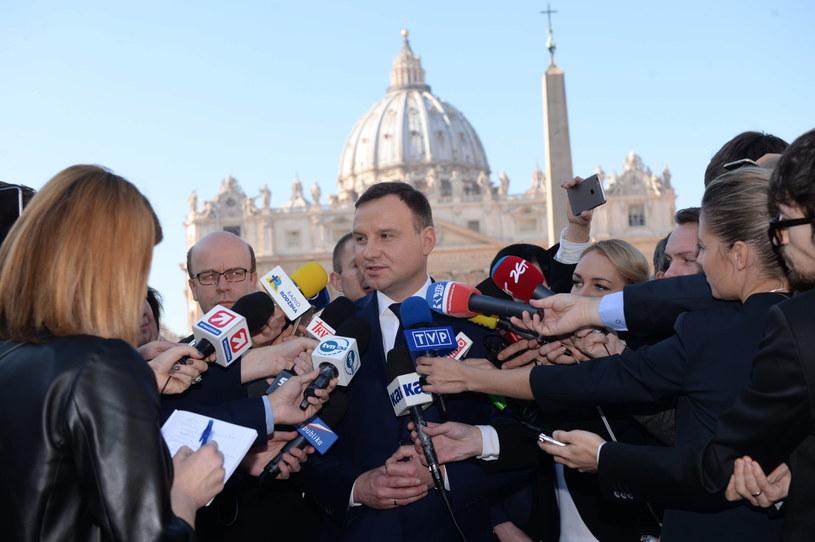 Andrzej Duda w Watykanie /Jacek Turczyk /PAP