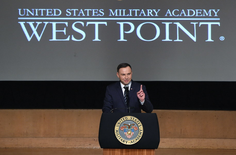 Andrzej Duda w West Point /Radek Pietruszka /PAP