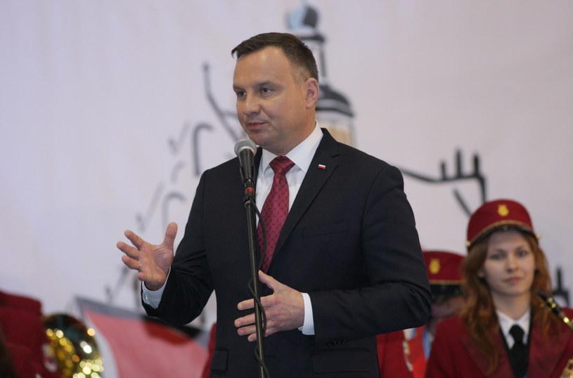 Andrzej Duda w Żarach / Lech Muszyński    /PAP