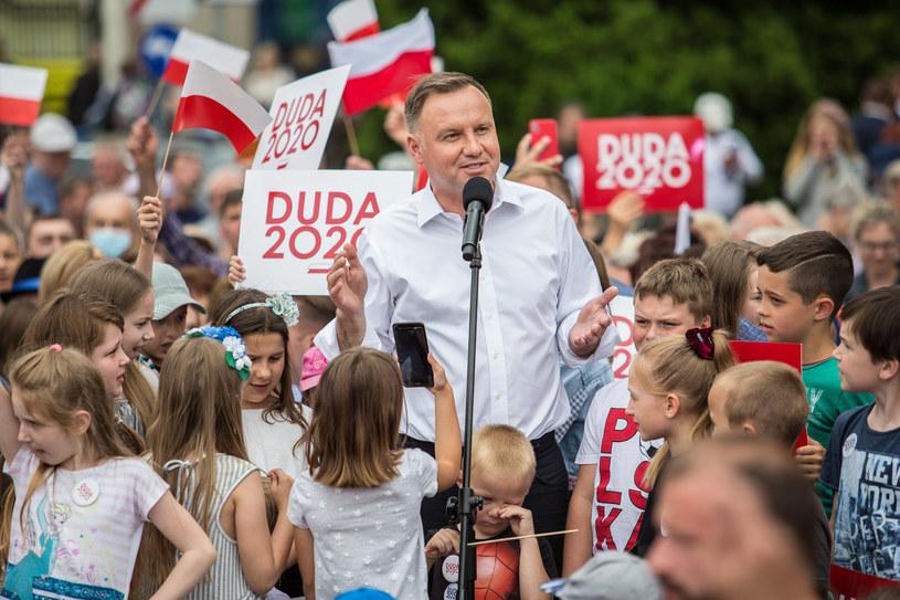 Andrzej Duda w Złotowie /Zbigniew Komorowski /Agencja FORUM