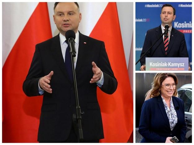 Andrzej Duda, Władysław Kosiniak-Kamysz, Małgorzata Kidawa-Błońska /Darek Delmanowicz Marcin Obara Rafał Guz /PAP