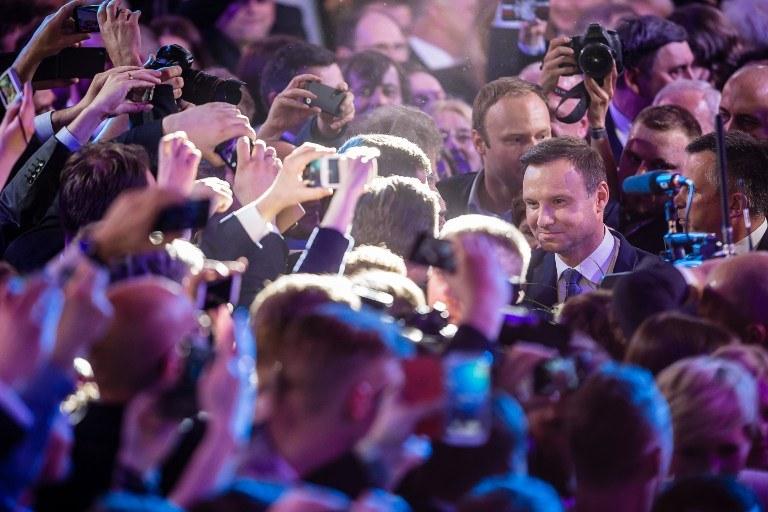Andrzej Duda wśród zwolenników /AFP