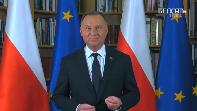 Andrzej Duda wygłosił orędzie do Białorusinów /Kancelaria Prezydenta /Archiwum