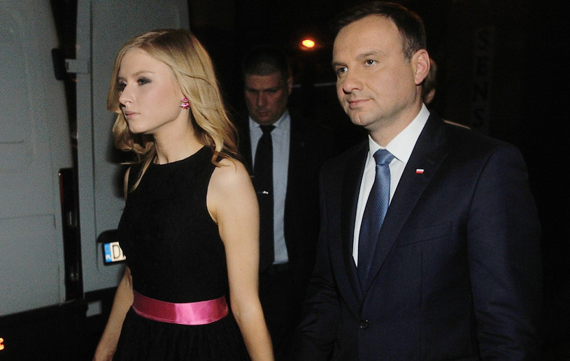 Andrzej Duda z córką Kingą /Witold Rozbicki /Reporter