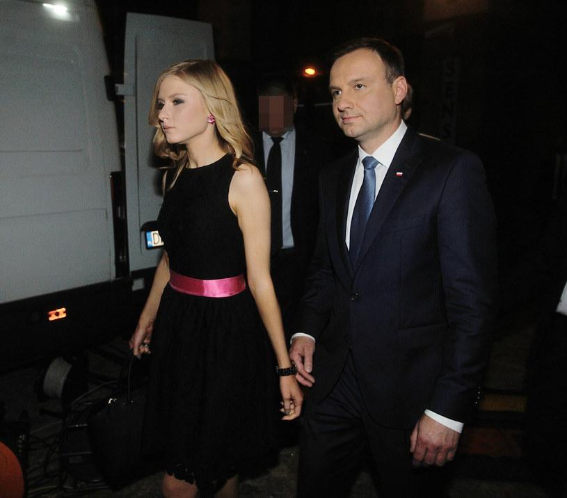 Andrzej Duda z córką /Witold Rozbicki /Reporter