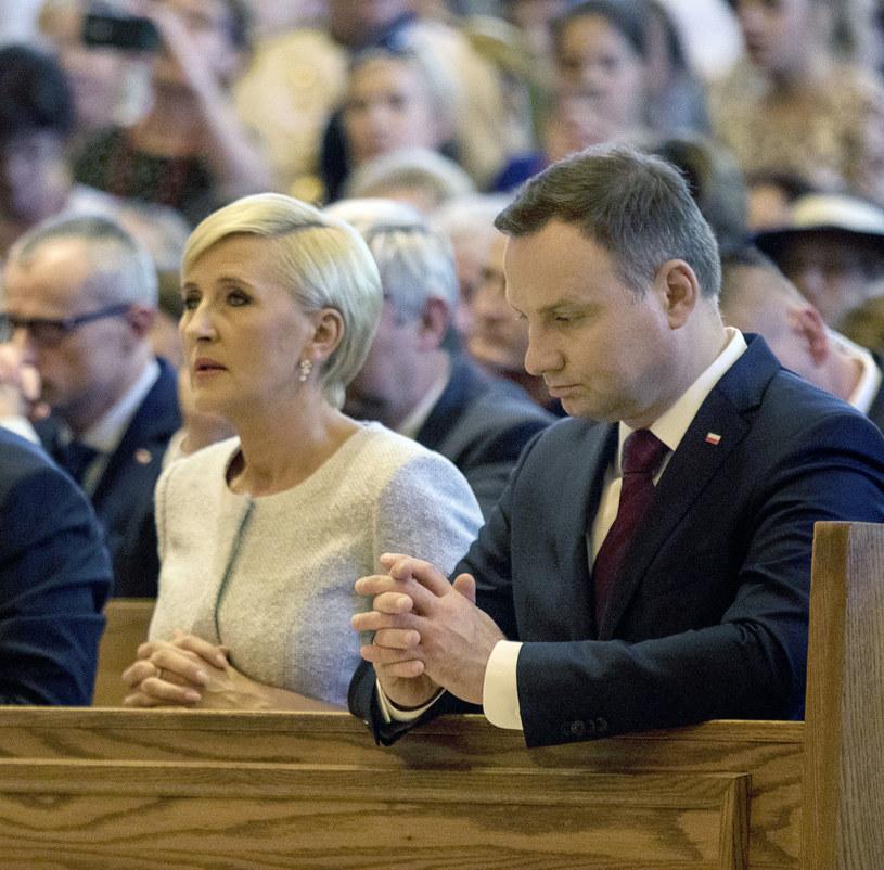 Andrzej Duda z małżonką w amerykańskiej Częstochowie /Wojciech Kubik /East News