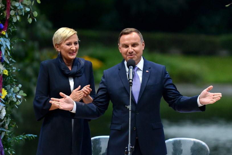 Andrzej Duda z Pierwszą Damą /Jakub Kamiński   /PAP