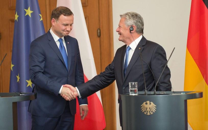 Andrzej Duda z prezydentem Niemiec Joachimem Gauckiem /PAP/EPA