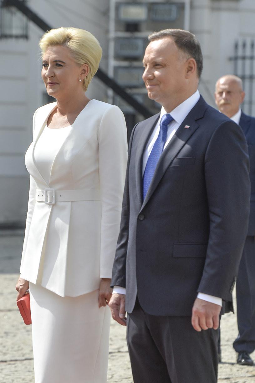 Andrzej Duda z żoną Agatą podczas zaprzysiężenia /Niemiec /AKPA
