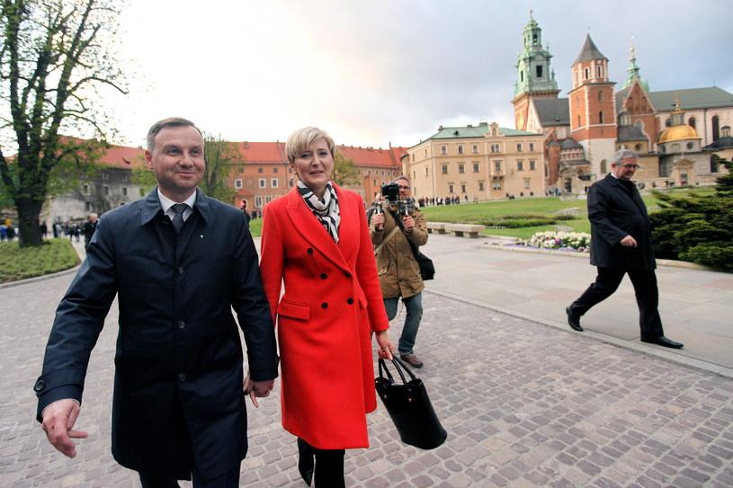 Andrzej Duda z żoną Agatą /Jarek Praszkiewicz /Agencja FORUM