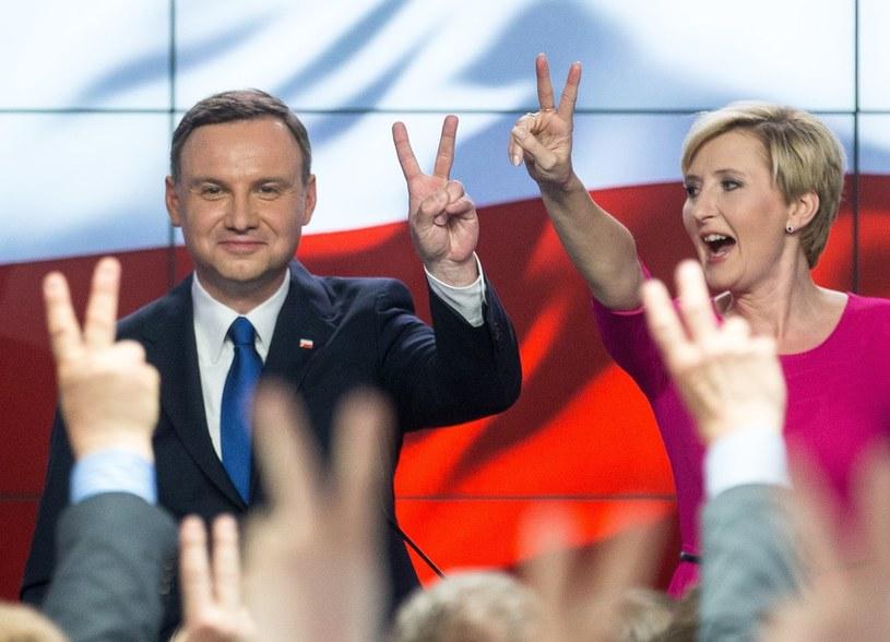 Andrzej Duda z żoną Agatą /Andrzej Iwańczuk /Reporter