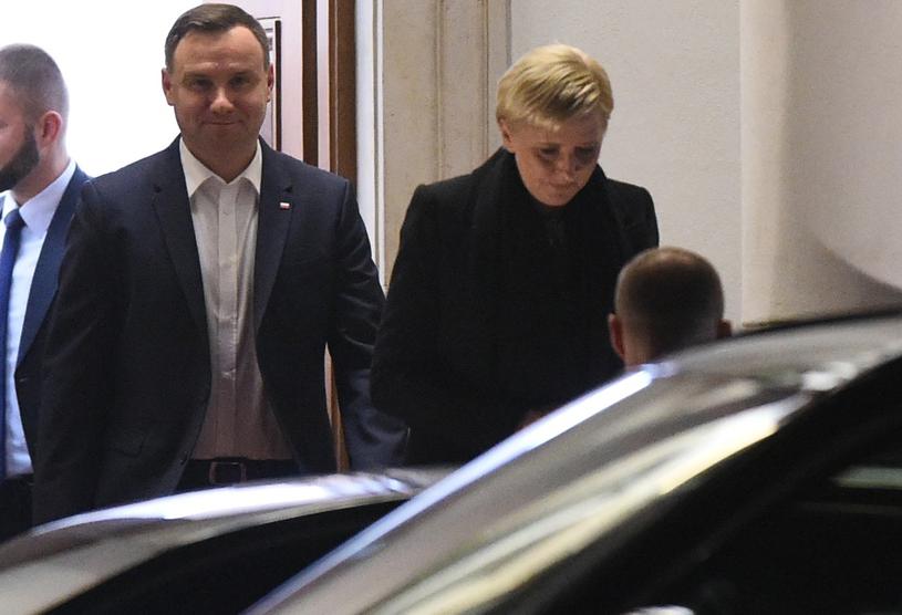 Andrzej Duda z żoną Agatą /Rafał Oleksiewicz /East News