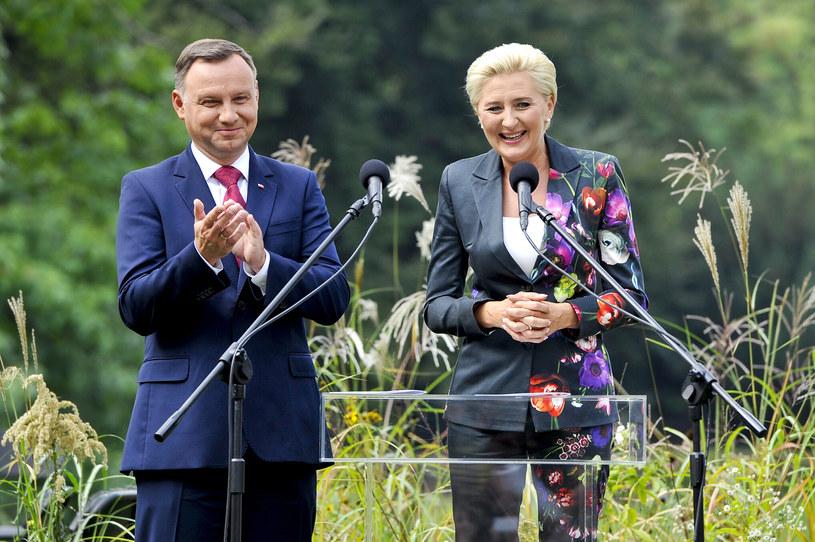 Andrzej Duda z żoną Agatą /Gałązka /AKPA