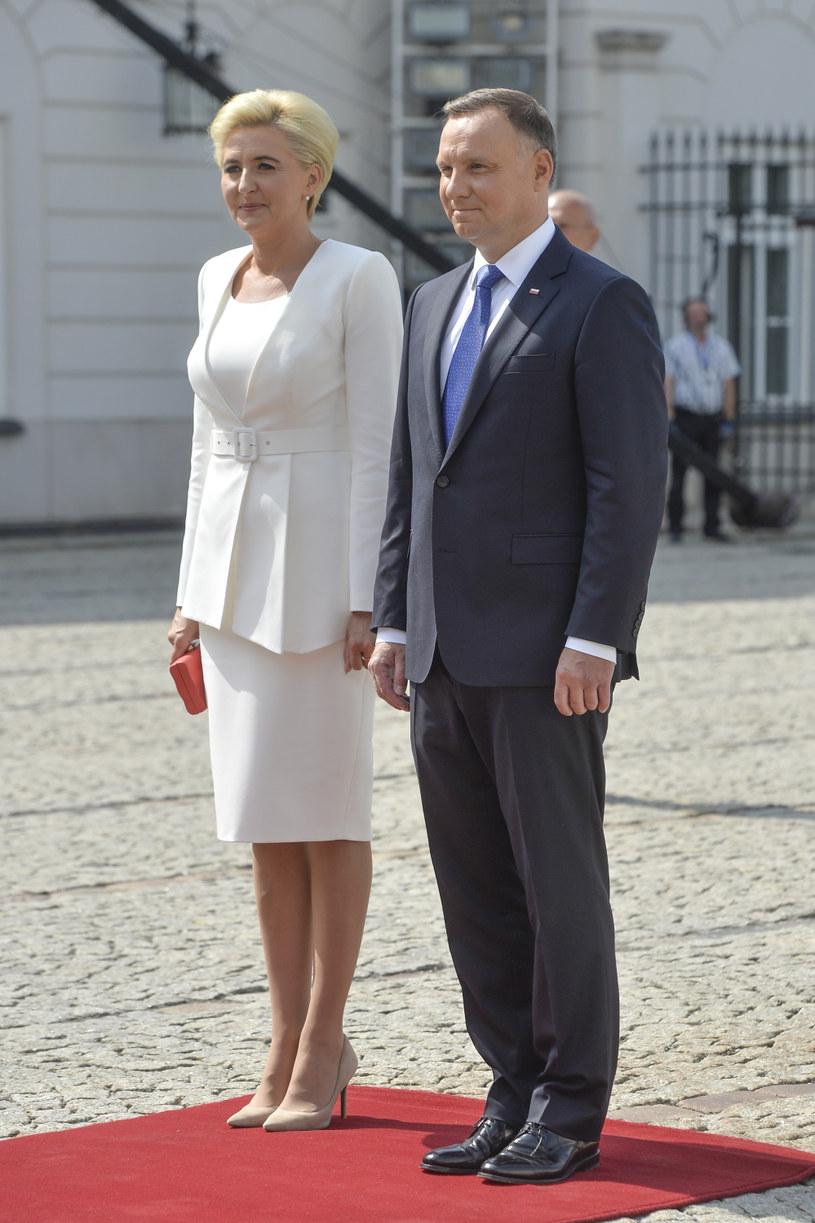 Andrzej Duda z żoną Agatą /Niemiec /AKPA