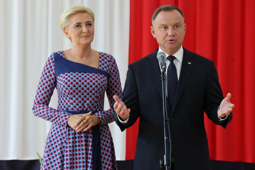 Andrzej Duda z żoną Agatą /Jacek Domiński /Reporter