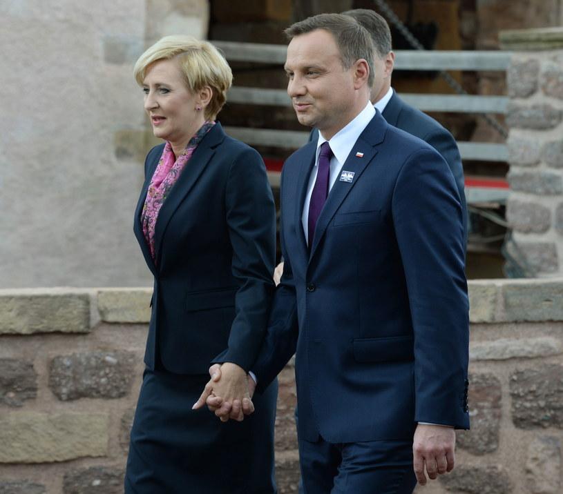 Andrzej Duda z żoną /Jacek Turczyk /PAP