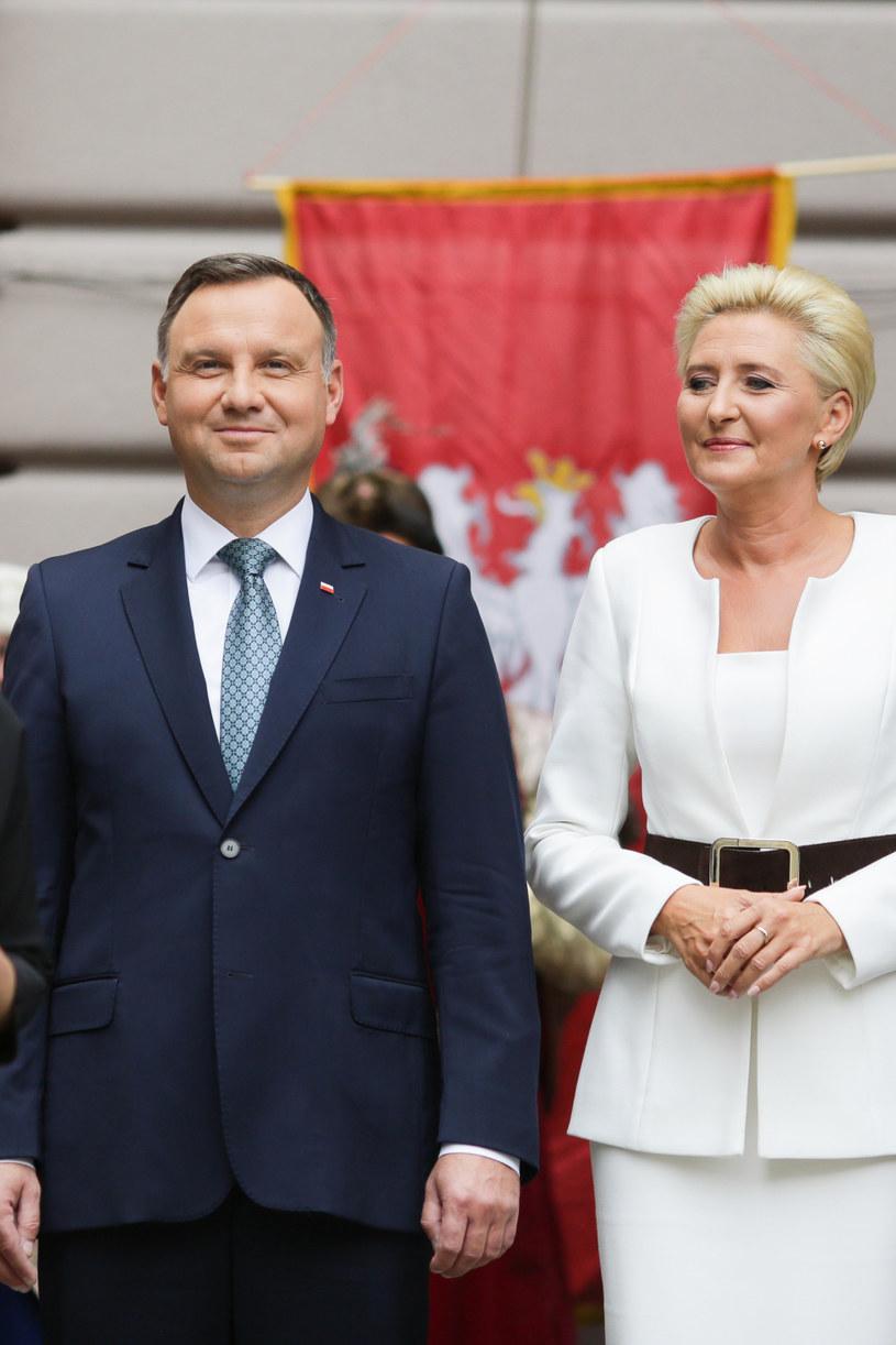 Andrzej Duda z żoną /AKPA /AKPA