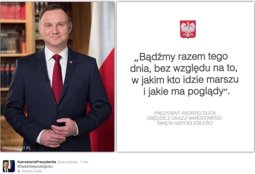 Andrzej Duda życzył Polakom radosnego świętowania /KPRP /Twitter
