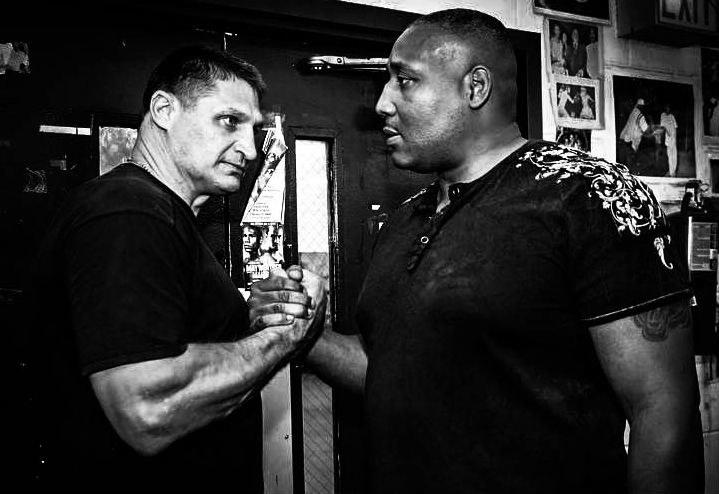 Andrzej Gołota i Danell Nicholson, Fot: Fight Night /Informacja prasowa