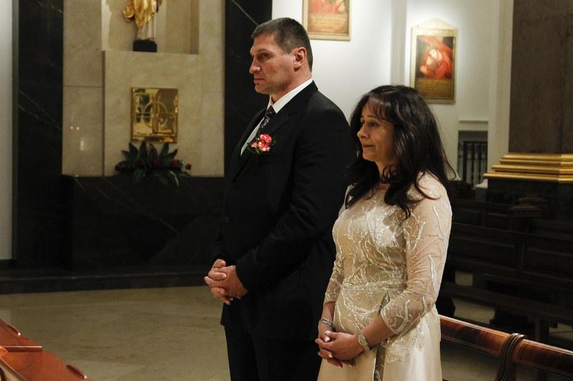 Andrzej Gołota i Mariola Gołota podczas odnowienia przyrzeczeń małżeńskich w 2015 roku /Krzemiński Jordan /AKPA