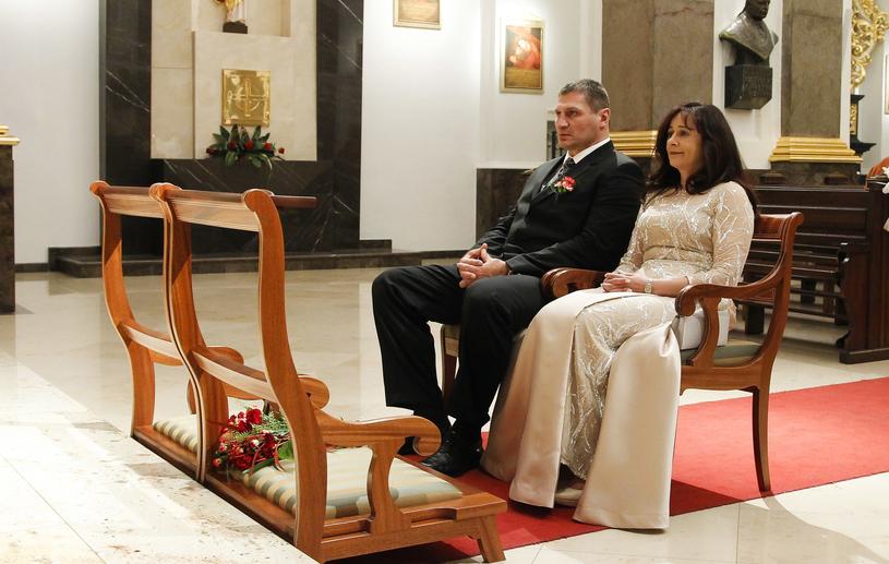 Andrzej Gołota z żoną Mariolą /Krzemiński Jordan /AKPA
