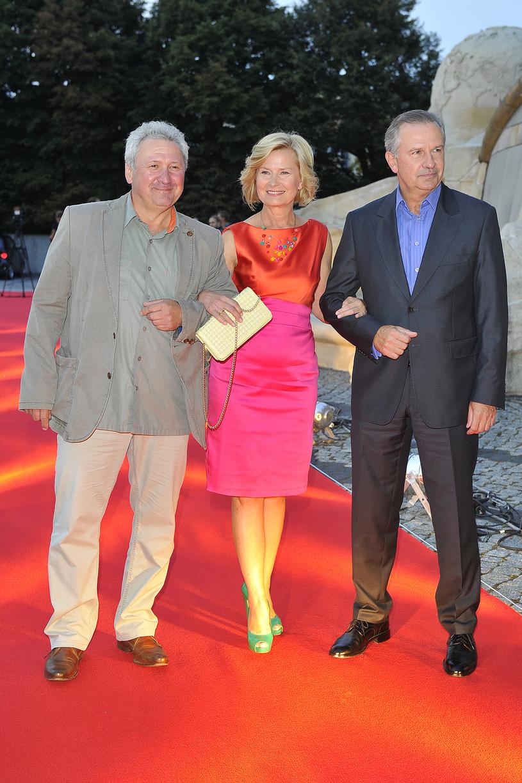 Andrzej Grabarczyk, Barbara Bursztynowicz i Tomasz Stockinger (2013) /AKPA