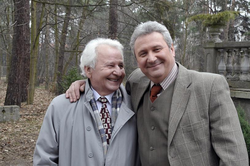 Andrzej Grabarczyk z tatą Wincentym /Gałązka /AKPA