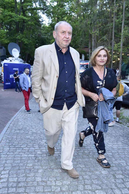 Andrzej Grabowski i Aldona Grochal podczas Polsat SuperHit Festiwal 2021 /Kurnikowski /AKPA