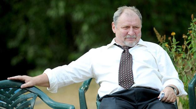 """Andrzej Grabowski tym razem na planie serialu... """"Blondynka"""" /Agencja W. Impact"""