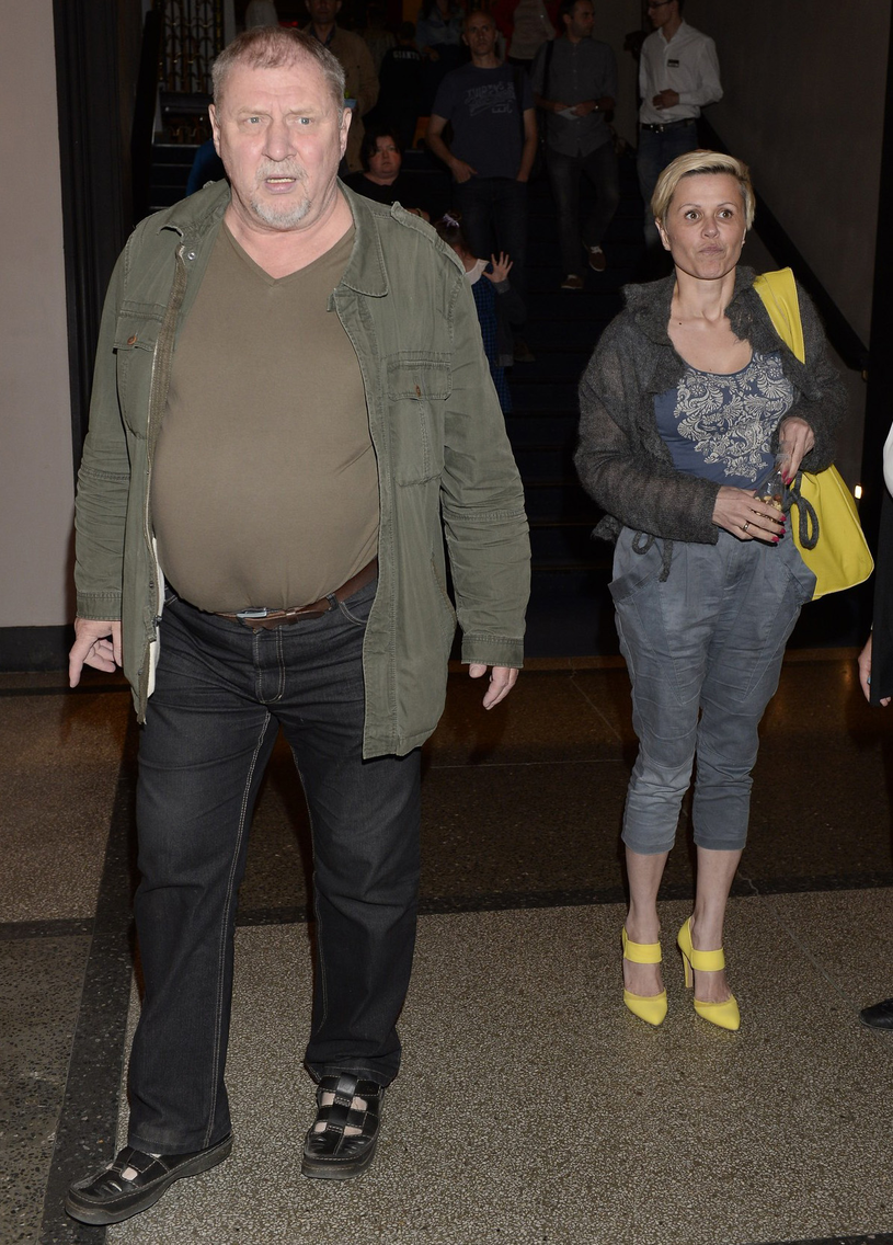 Andrzej Grabowski z byłą żoną /- /East News